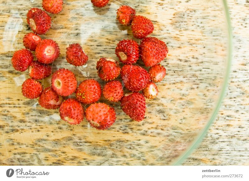 wild strawberries Food Fruit Picnic Organic produce Vegetarian diet Finger food Plate Healthy Healthy Eating Summer Garden Nature Plant Leaf Blossom To enjoy