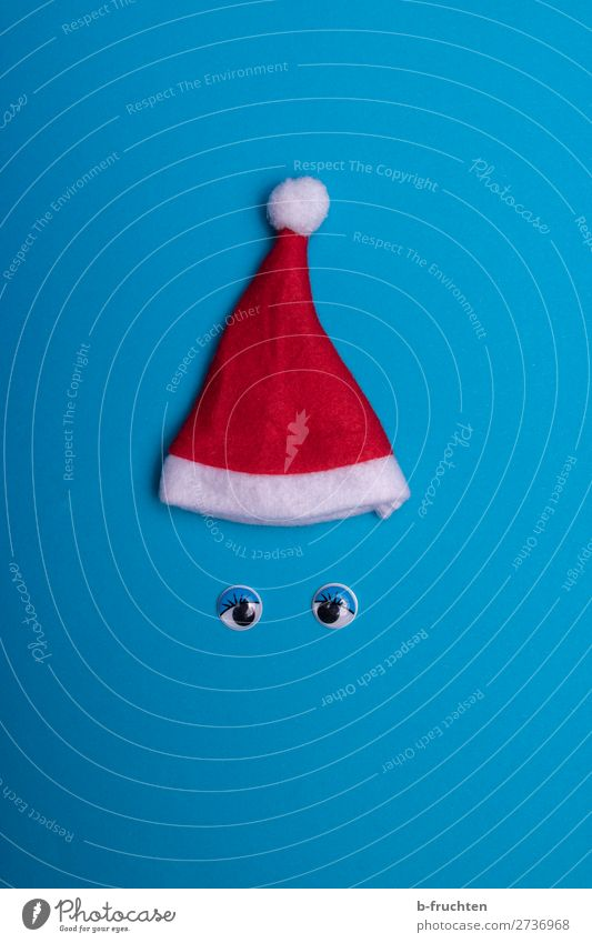 Christmas & Advent Blue Red Joy Face Eyes Feasts & Celebrations Playing Moody Leisure and hobbies Decoration Communicate Happiness Crazy Paper Observe