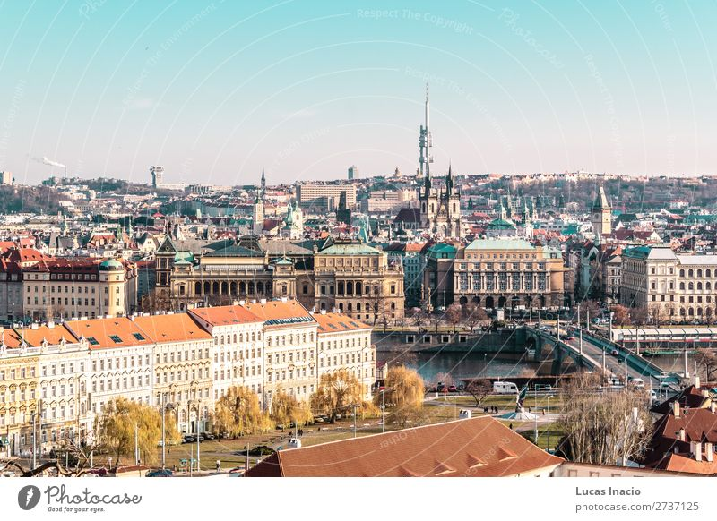Panoramic View of Prague, Czech Republic Sky Vacation & Travel Nature Tree House (Residential Structure) Leaf Forest Street Architecture Religion and faith