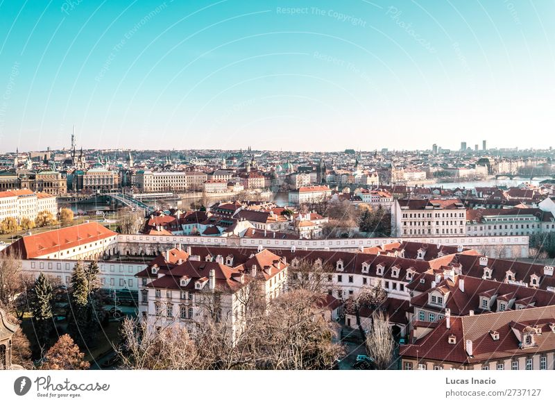 Panoramic View of Prague, Czech Republic Vacation & Travel Tourism House (Residential Structure) Office Business Environment Nature Sky Tree Leaf River Downtown