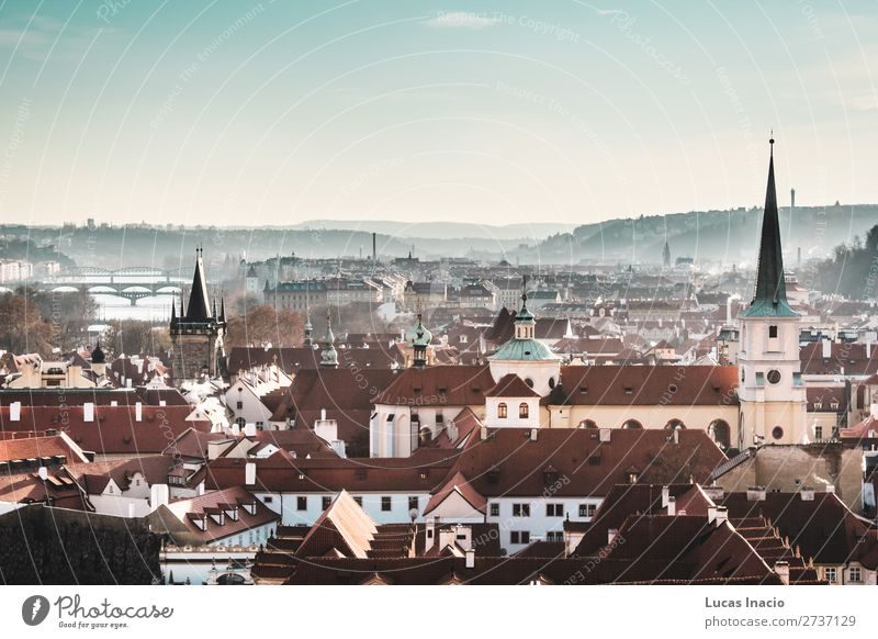 Panoramic View of Prague, Czech Republic Sky Vacation & Travel Nature House (Residential Structure) Mountain Street Architecture Religion and faith Environment