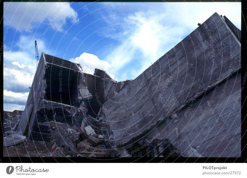 Concrete Industry Change Destruction Dismantling Block Opening Upheaval
