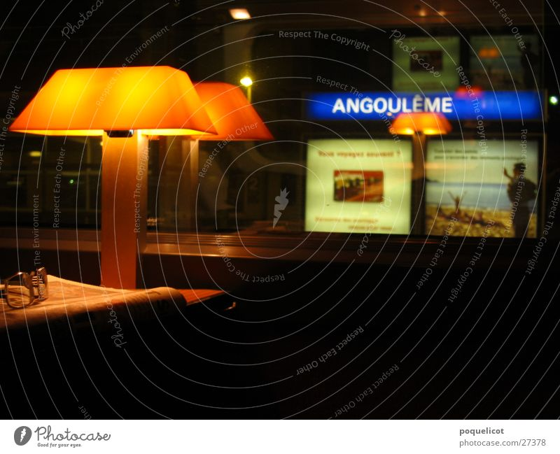 Break in the TGV Express train Vacation & Travel Transport France angouleme night work Trip lamp