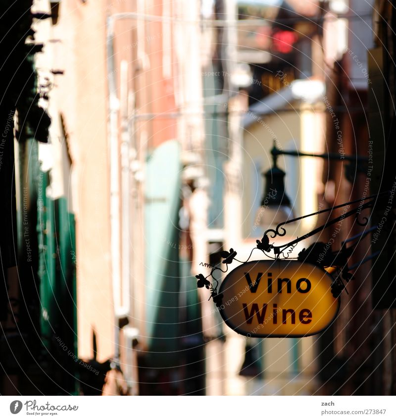 House (Residential Structure) Facade Signs and labeling Characters To enjoy Signage Italy Shopping Beverage Wine Old town Store premises Alley Alcoholic drinks