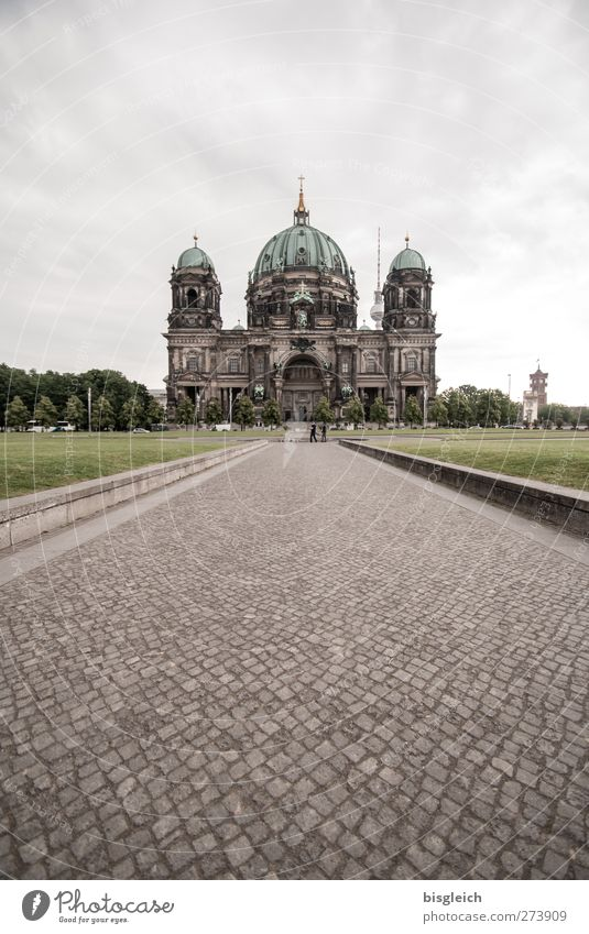 Berlin Cathedral IV Federal eagle Europe Capital city Downtown Church Dome Tourist Attraction Large Gray Green Might Belief Religion and faith Colour photo