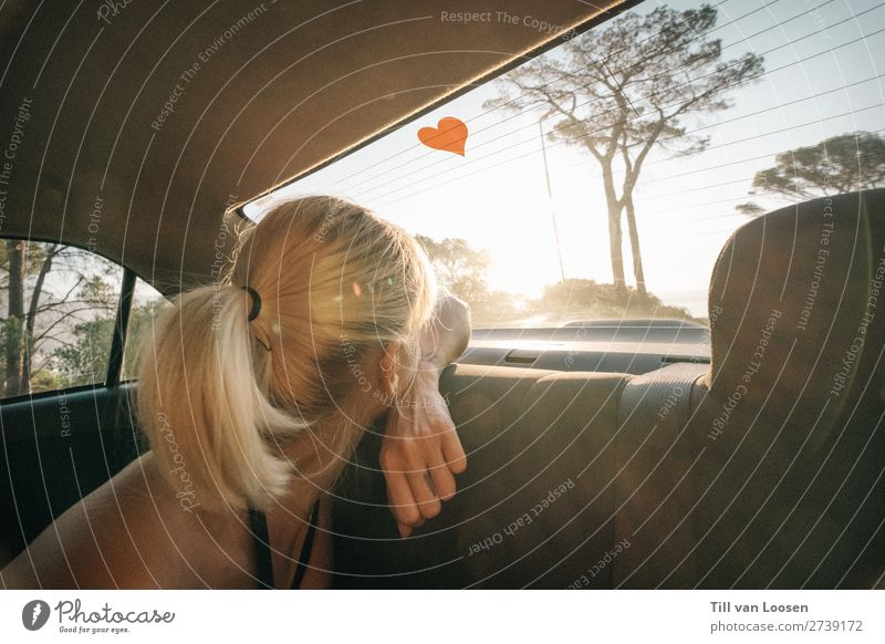love and other drugs Feminine Young woman Youth (Young adults) 1 Human being 18 - 30 years Adults Cloudless sky Sun Summer Beautiful weather Vehicle Car Blonde