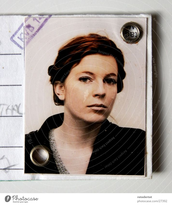 Woman Hair and hairstyles Brown Elegant Passport photograph