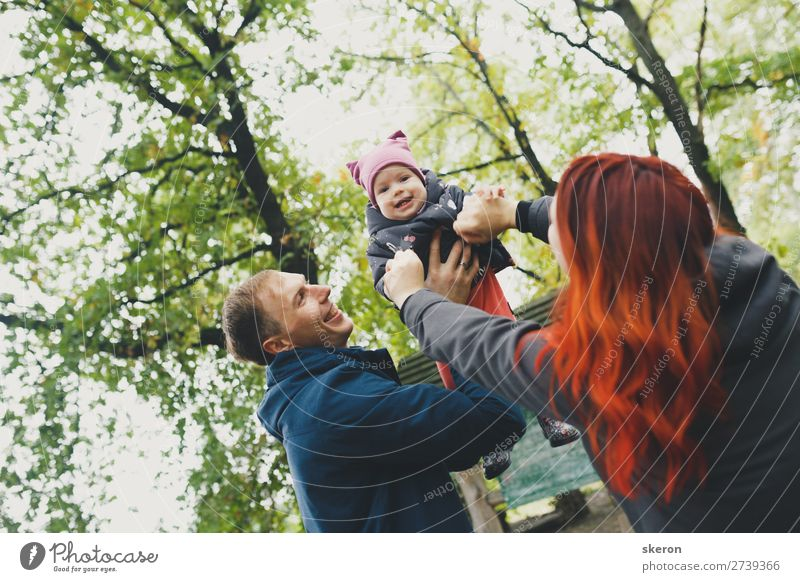 happy family on a spring walk Lifestyle Leisure and hobbies Playing Vacation & Travel Trip Adventure Freedom Summer Mother's Day Parenting Education