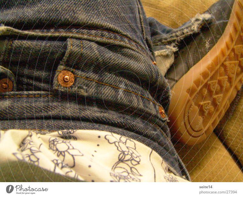 Child Man Blue Pants Footwear Jeans University & College student Washed out Men's underpants