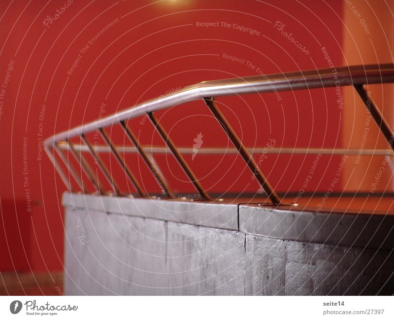 Red Architecture Handrail Hall Railing