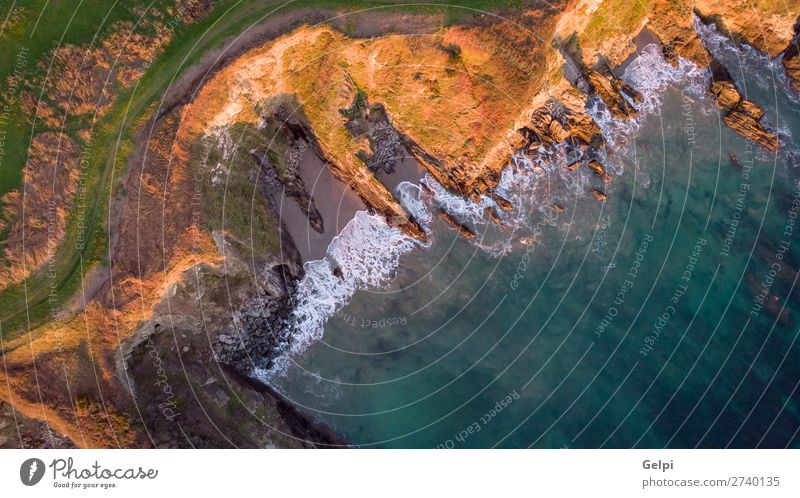 Beautiful aerial view of the coast Exotic Leisure and hobbies Vacation & Travel Tourism Summer Beach Ocean Island Waves Wallpaper Nature Landscape Sand Coast