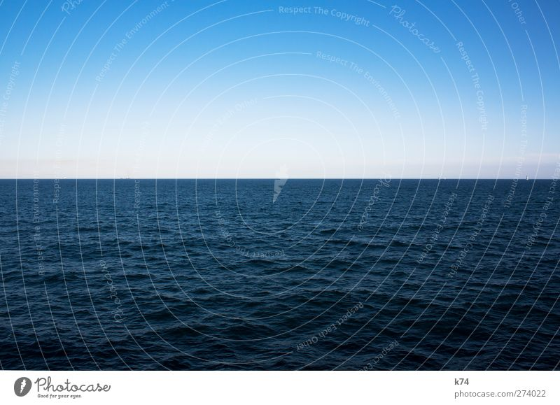 el mar Water Sky Cloudless sky Horizon Waves North Sea Baltic Sea Ocean Free Gigantic Large Infinity Cold Beautiful Blue Calm Wanderlust Relaxation Peace