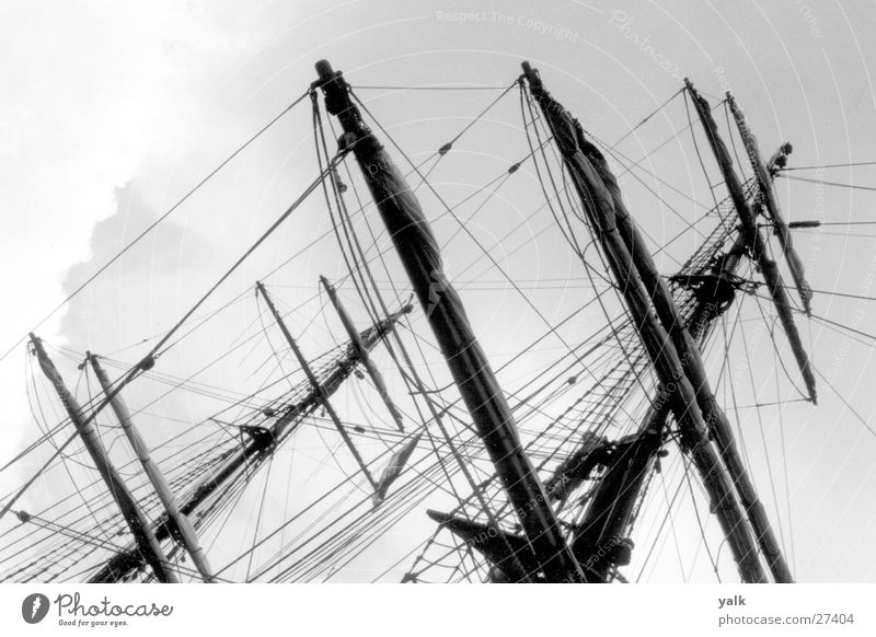 ship masts Sailing ship Maritime Navigation Baltic Sea Water