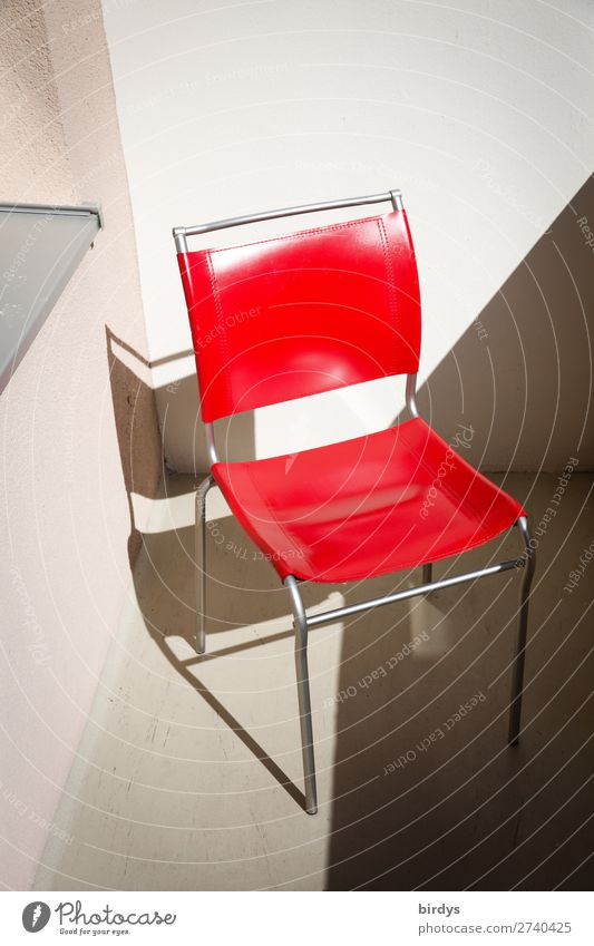red hot chilli chair Chair Balcony Illuminate Authentic Simple Glittering Clean Gray Red White Esthetic Center point Style Living or residing Seating Design