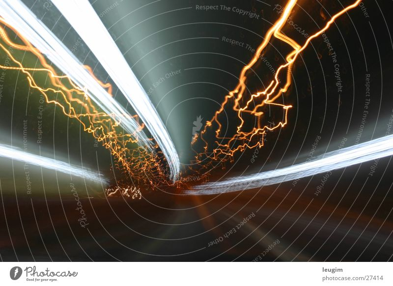 Poruqe SI Tunnel Light Buenos Aires Argentina Long exposure Night Street Movement