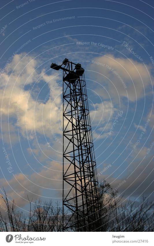 Sky Blue Black Clouds Loneliness Graffiti Tall Tower