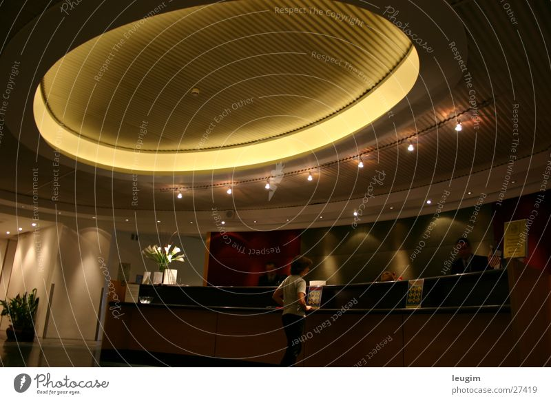 Black Lounge Doomed London Architecture Foyer Circle Light Wait Calm