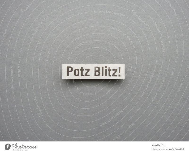 Potz Blitz! Characters Signs and labeling Communicate Gray Black White Emotions Enthusiasm Surprise Discover Experience Inspiration Curiosity Potz Lightning