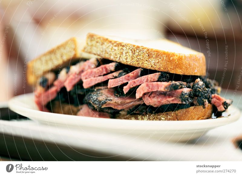 Pastrami Sandwich Bread Meat Deserted Beef Food Rye New York City nyc pastrami
