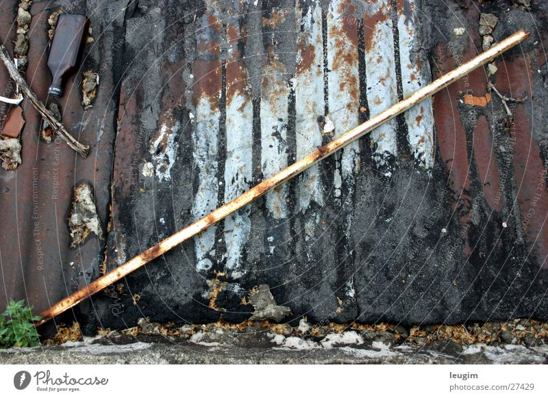 Old Roof Things Rust Rod Tar Peru Corrugated sheet iron