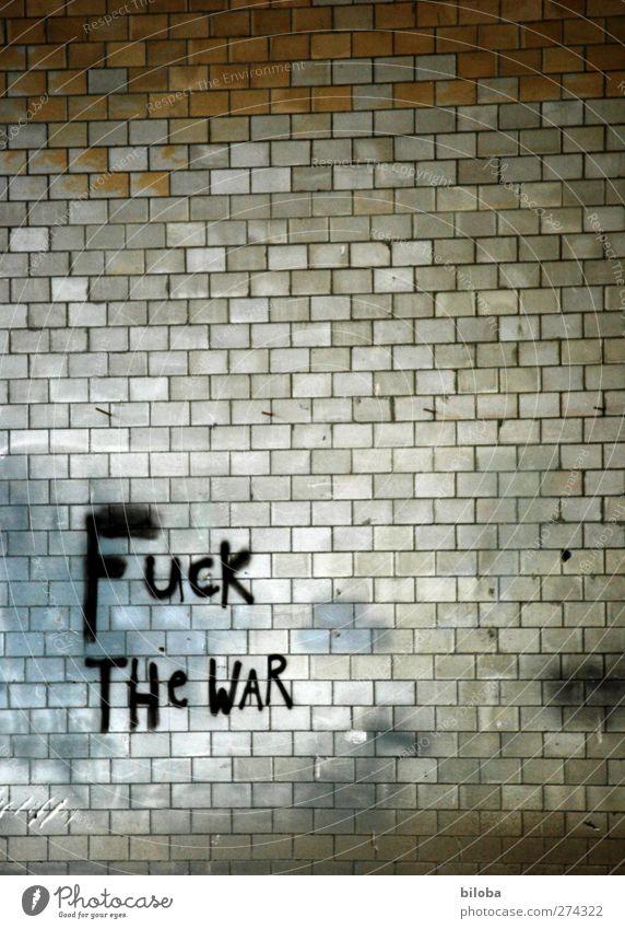 White Black Graffiti Gray Wall (barrier) Brown Factory Peace War