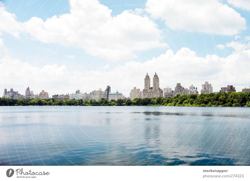 Jacqueline Kennedy Onassis Reservoir Water Central Park Reservoir New York City Town Day Summer