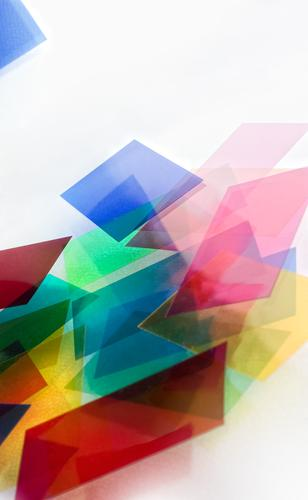 Colour Modern Design Paper Creativity Plastic Abstract Chaos Piece of paper Sharp-edged Multicoloured Plastic packaging Ornament Rectangle Structures and shapes