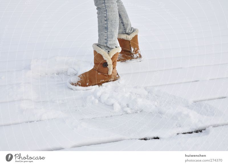 on the snow Lifestyle Style Trip Snow Winter vacation Entertainment Dance Feminine Young woman Youth (Young adults) Woman Adults Legs Feet 1 Human being