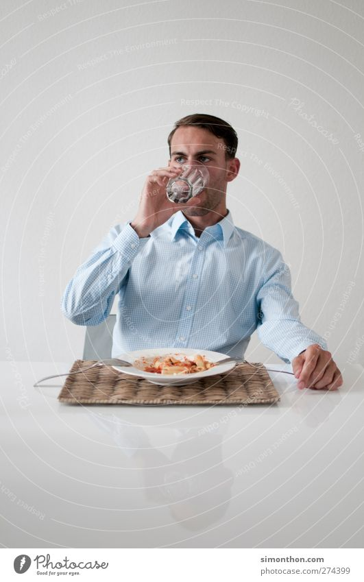 Human being Loneliness Life Sadness Eating Healthy Arrangement Elegant Success Modern Drinking To enjoy Thin Appetite Delicious Luxury