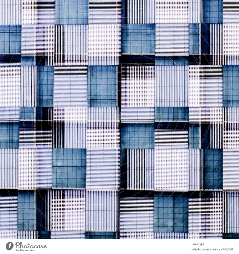 Blue Colour White Background picture Architecture Building Exceptional Facade Crazy Perspective Manmade structures Double exposure