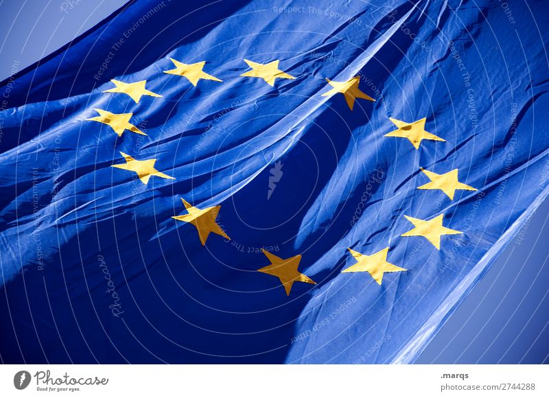 European flag Sign Flag Star (Symbol) Identity Politics and state Colour photo Exterior shot Deserted Isolated Image Neutral Background