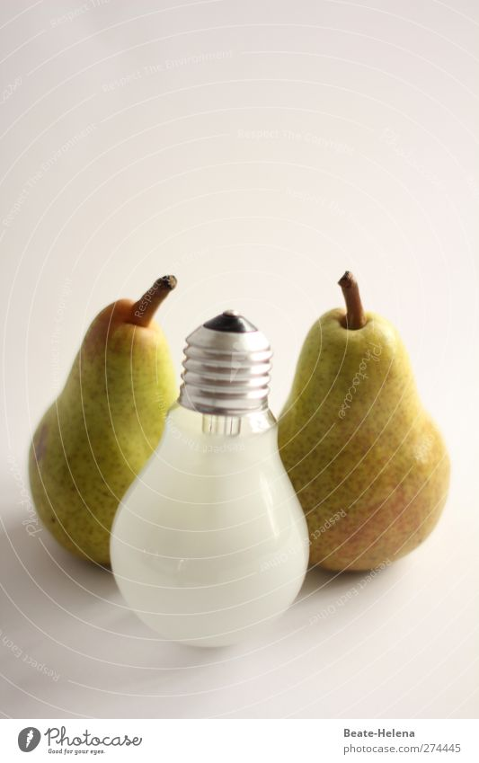 Green Fruit Energy industry Nutrition Lifestyle Shopping Retro To enjoy Organic produce Figure Electric bulb Mixture Dessert Vegetarian diet Pear