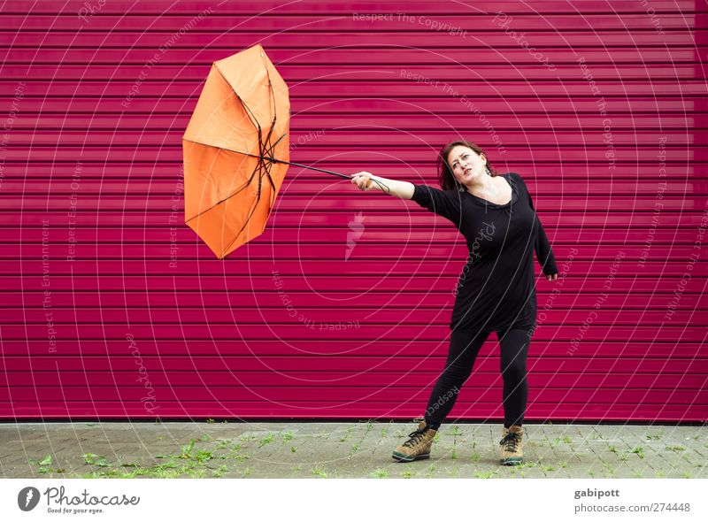 Human being Woman Beautiful Summer Red Black Adults Environment Life Autumn Orange Weather Wind Pink Wild Leisure and hobbies