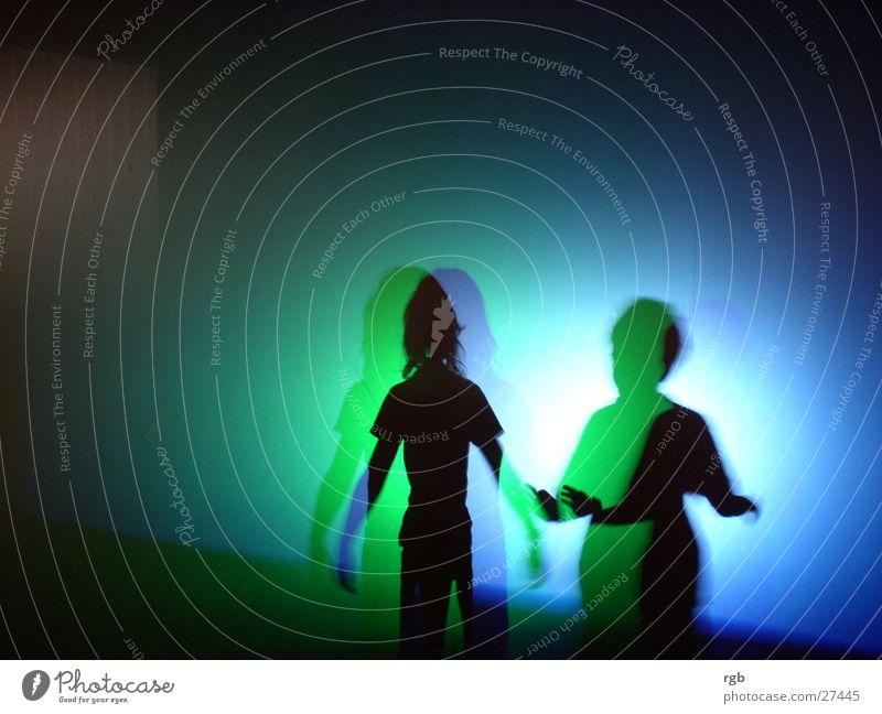 Play of light Green Light Friendship Blue Shadow Colour