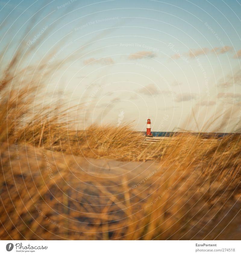 Sky Blue Vacation & Travel Summer Red Sun Ocean Beach Calm Landscape Yellow Grass Coast Sand Building Horizon