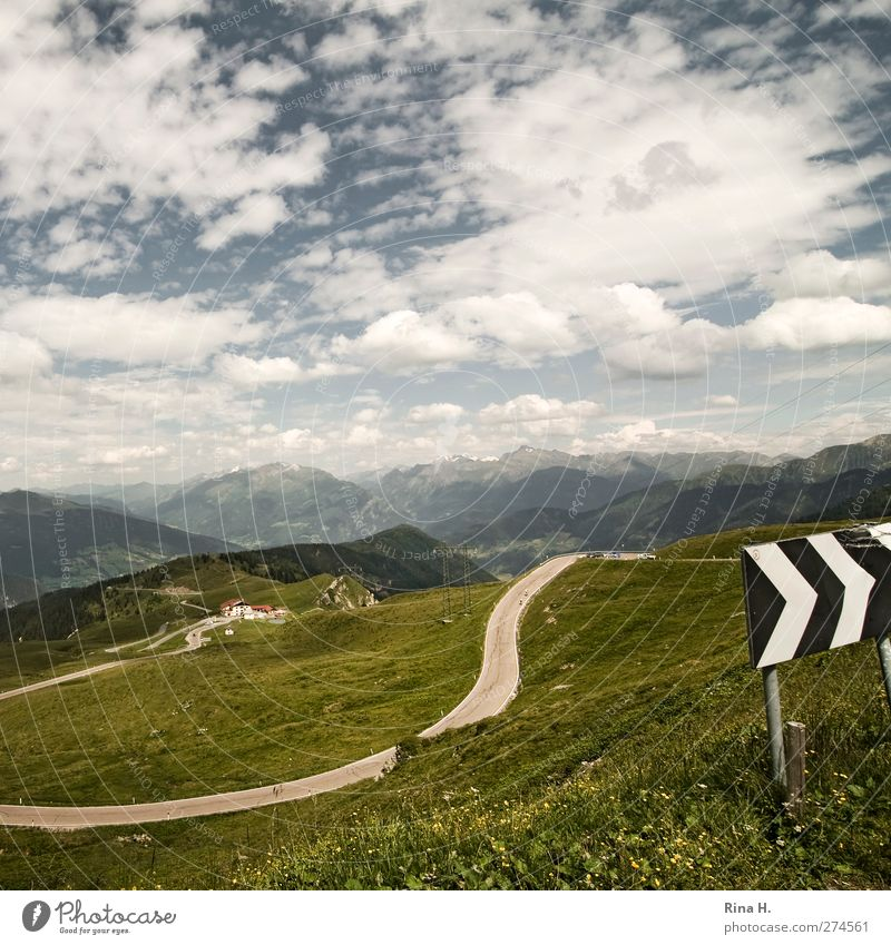 Passo di Monte Giovo Vacation & Travel Trip Environment Nature Landscape Sky Clouds Horizon Summer Beautiful weather Meadow Mountain South Tyrol Jaufen pass
