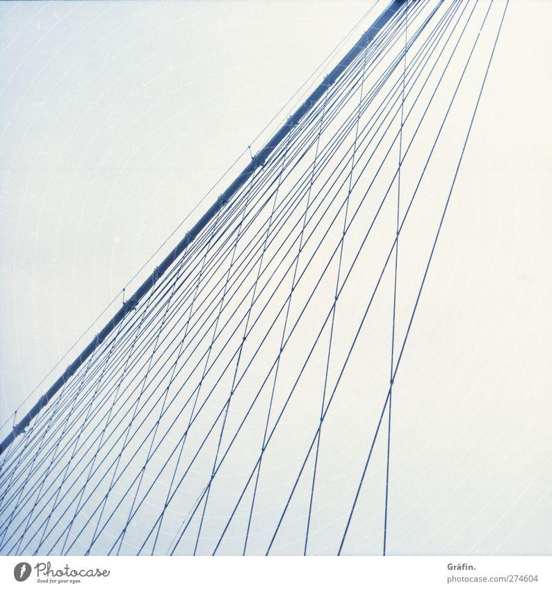 Blue Vacation & Travel Cold Building Metal Line Power Tourism Bridge Infinity Manmade structures City trip Brooklyn Bridge