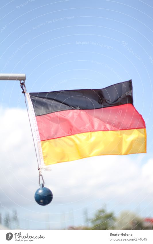 There's something in the air ... Flag German Flag Judder Swing Airy Germany Ensign Colour photo Exterior shot Copy Space top Day Light Bright background