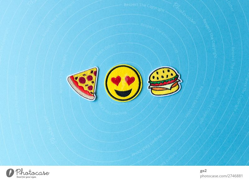 pizza burger Food Meat Cheese Pizza Hamburger Nutrition Eating Fast food Lifestyle Restaurant Decoration Cloth Sign Heart Smiley Happiness Delicious Funny