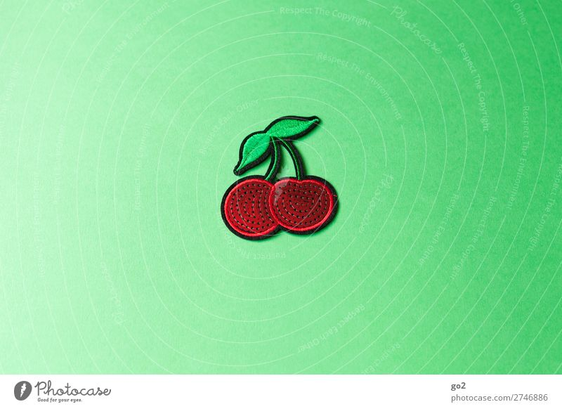 cherries Food Fruit Cherry Nutrition Accessory Decoration Cloth Sign Esthetic Fresh Healthy Delicious Juicy Green Red Colour photo Interior shot Studio shot