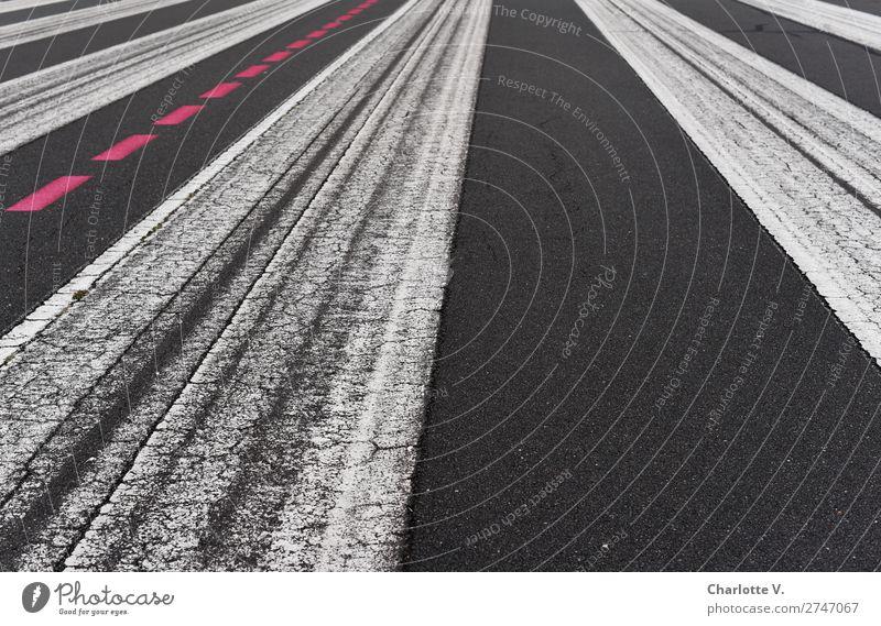 White Red Black Lanes & trails Line Aviation Arrangement Esthetic Signs and labeling Simple Stripe Asphalt Clarity Border Considerable