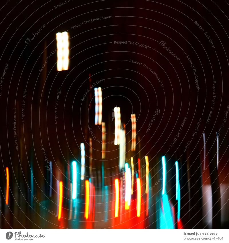 lights at night Light Night Colour colorful Blur Bright Street Exterior shot Abstract Consistency Pattern background Wallpaper Bilbao spain.