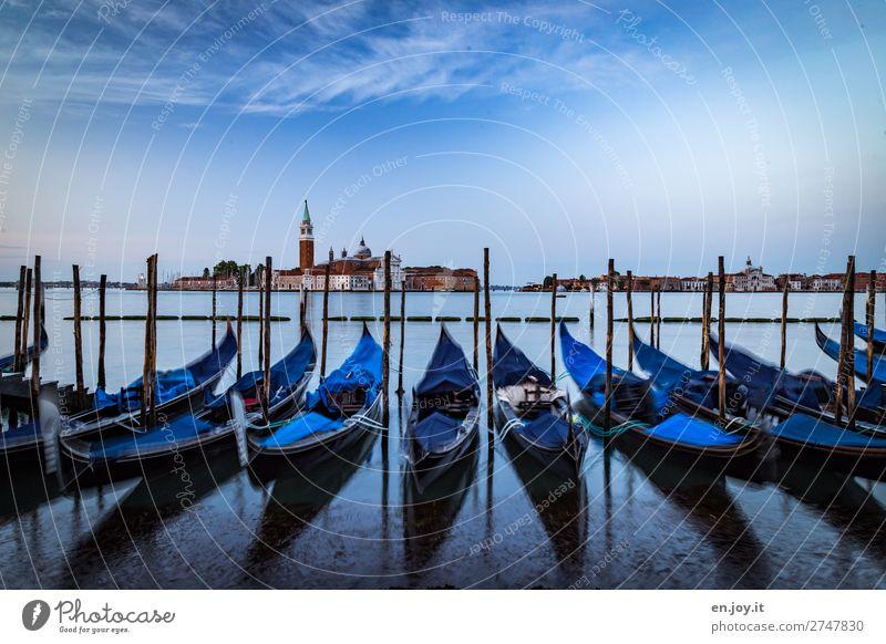 when the gondolas are wearing pyjamas Vacation & Travel Trip Sightseeing City trip Sky Horizon Summer Ocean Island Venice Italy Town Church Tower