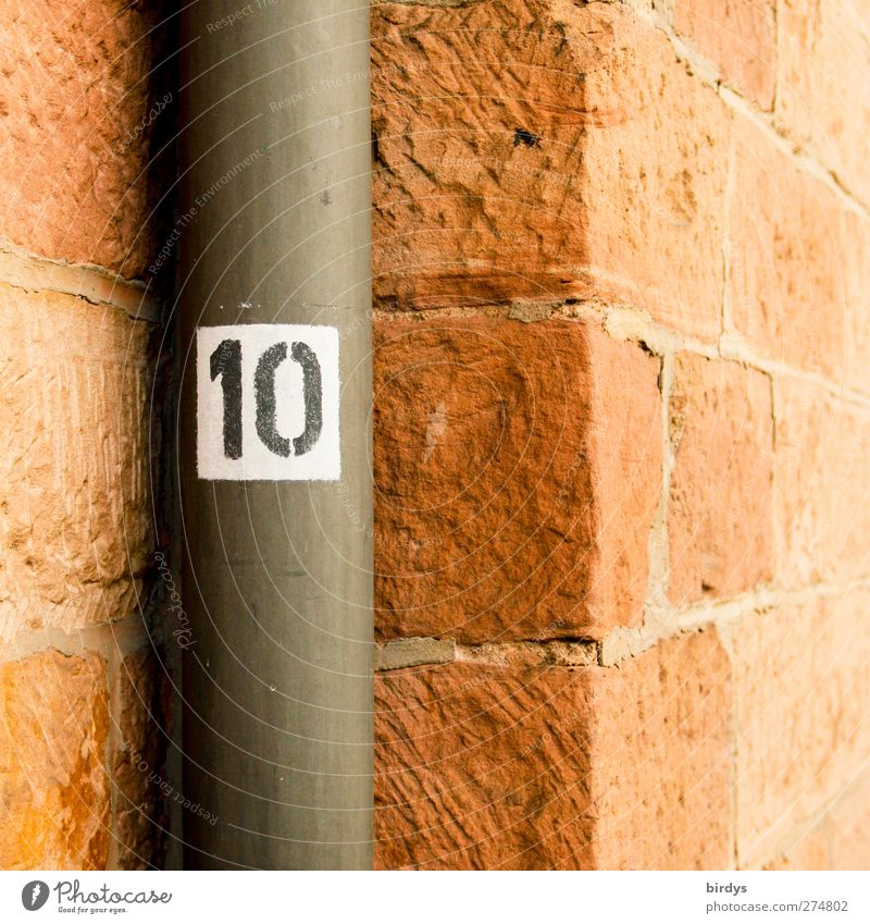 10 Wall (barrier) Wall (building) Sandstone Corner Downspout Stone Metal Digits and numbers Authentic Red Symmetry Town Niche Stone wall Perspective