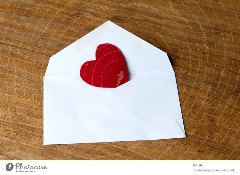 Mailing with love Colour White Red Wood Love Happy Feasts & Celebrations Design Decoration Retro Open Table Heart Gift Romance Paper