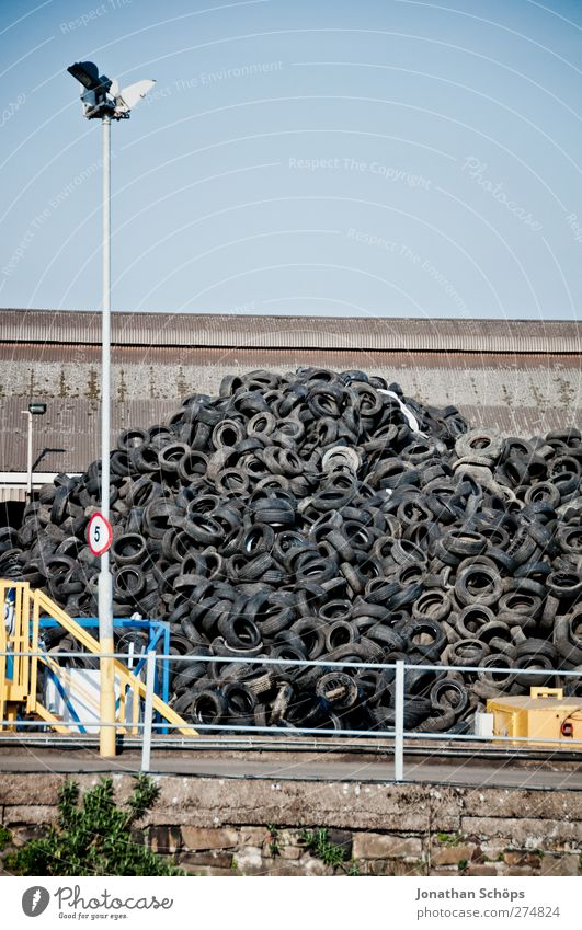the rest of the car I Transport Hideous Car tire India rubber Industrial Photography Industry Industrial plant Industrial site Tire Trash Recycling Heap Hill