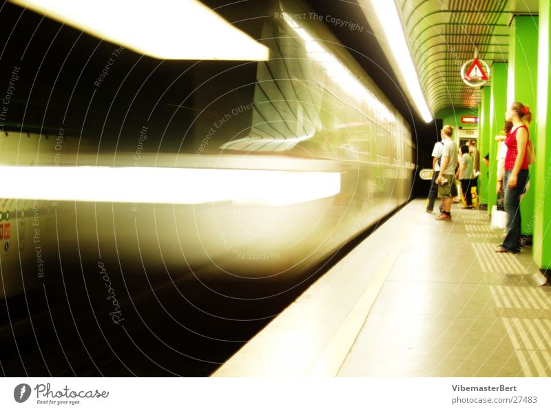 Underground in Vienna London Underground Mobility Speed Transport Human being