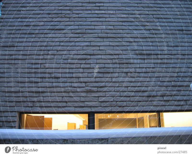 Yellow Window Stone Wall (barrier) Building Architecture Design Modern Brick Museum Smoothness Insight