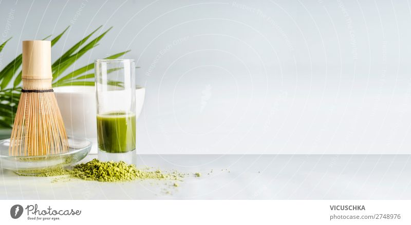 Matcha Espresso in glass with Matcha broom Food Nutrition Beverage Cold drink Hot drink Tea Crockery Shopping Style Design Healthy Healthy Eating Flag