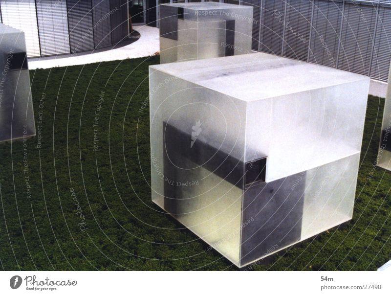 Transparent block Block Green White Building Architecture Metal
